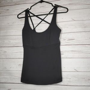 Lululemon Black Racerback Workout Tank Top Size 6